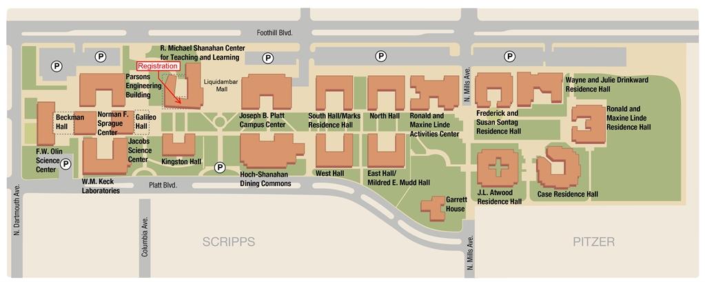 Harvey Mudd College Alumni Association Parking Information